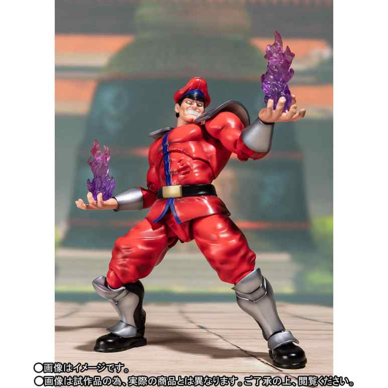 The Street Fighter V – S.H. Figuarts Classic Costume M. Bison in action mode