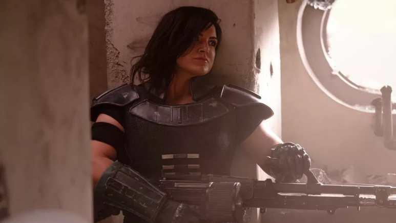 Gina Carano as Cara Dune. Pic credit: Lucasfilm.