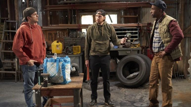 Ashton Kutcher, Dax Shepard, and Dawan Owens in The Ranch.