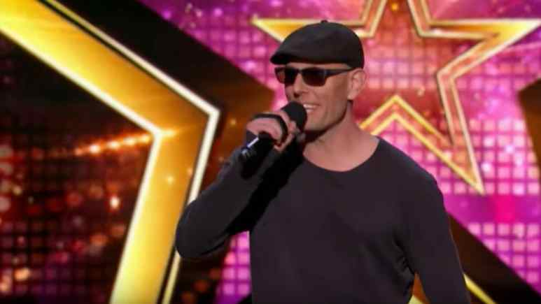 Alex Dowis performing on America's Got Talent