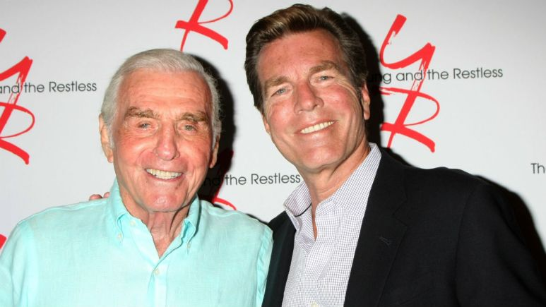 Jerry Douglas and Peter Bergman at an Y&R event.