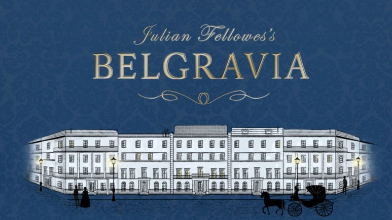 The artwork from Julian Fellows for his novel Belgravia which will also be distributed via an app and audio book and adapted for TV. Pic credit: Julian Fellows