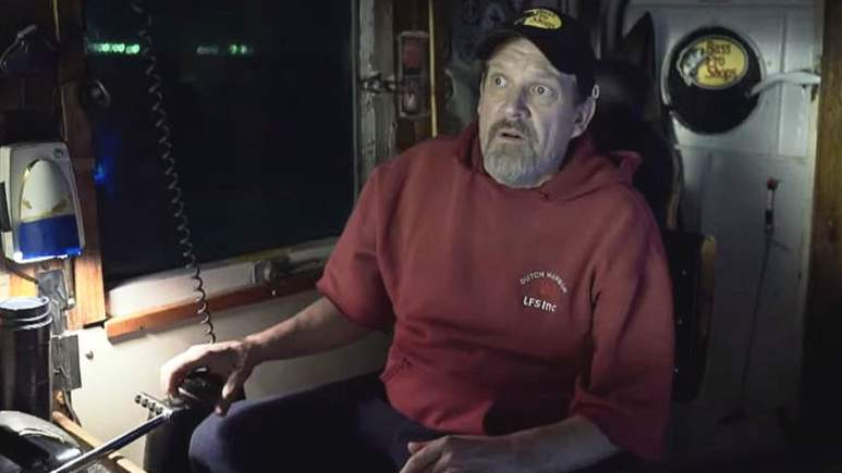 The look on Monte Colburn's face says it all, not enough room in the channel to navigate the Wizard. Pic credit: Discovery