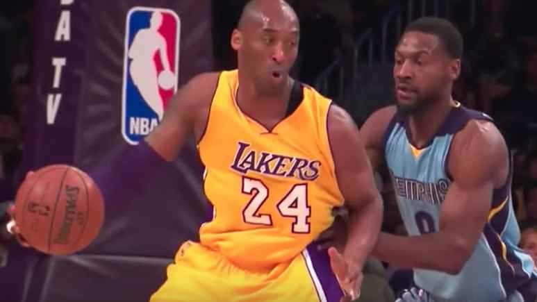 tony allen defends against nba star Kobe Bryant