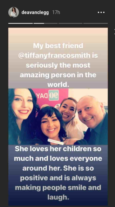 Deavan is defending Tiffany Franco on social media