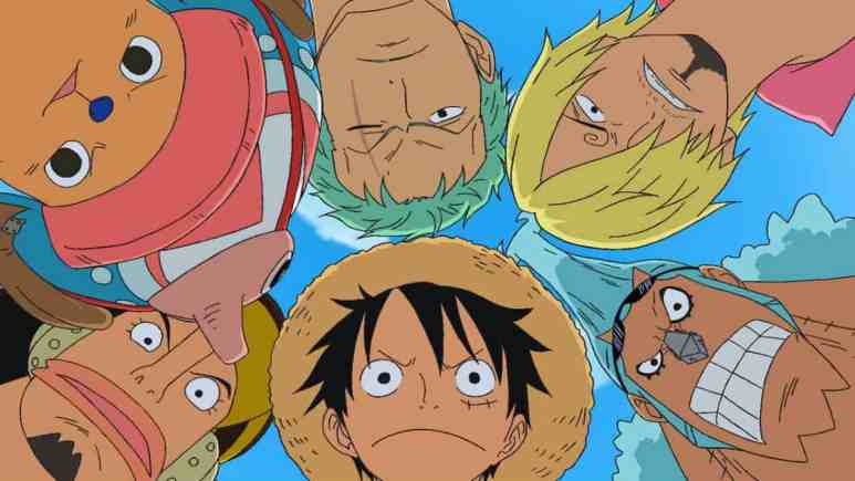 One Piece characters looking at the camera