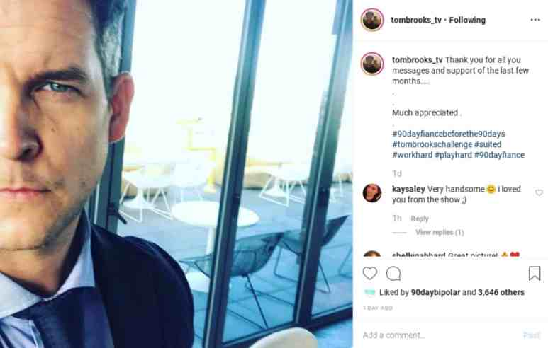 Tom Brooks Instagram photo