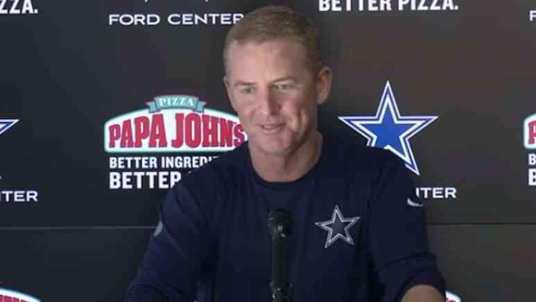 cowboys head coach jason garrett speaks to media after win over eagles