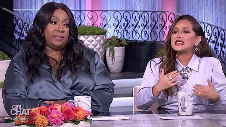 Loni Love (L) isn't having Adrienne's pet peeve at all. Pic credit: The Real