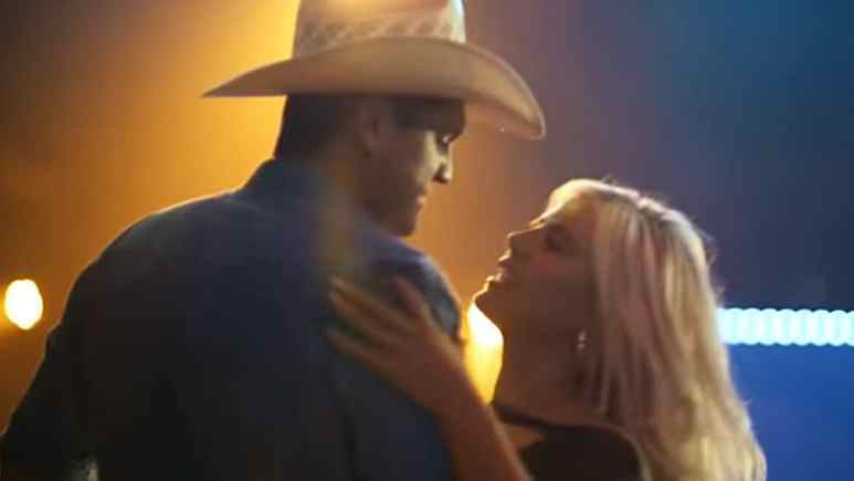 A still from Summer's moment in Pardi's Heartache Medicine video, the two dance the night away. Pic credit: Pardi/ YouTube