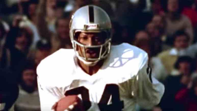 raiders legend willie brown during super bowl ix interception return for touchdown