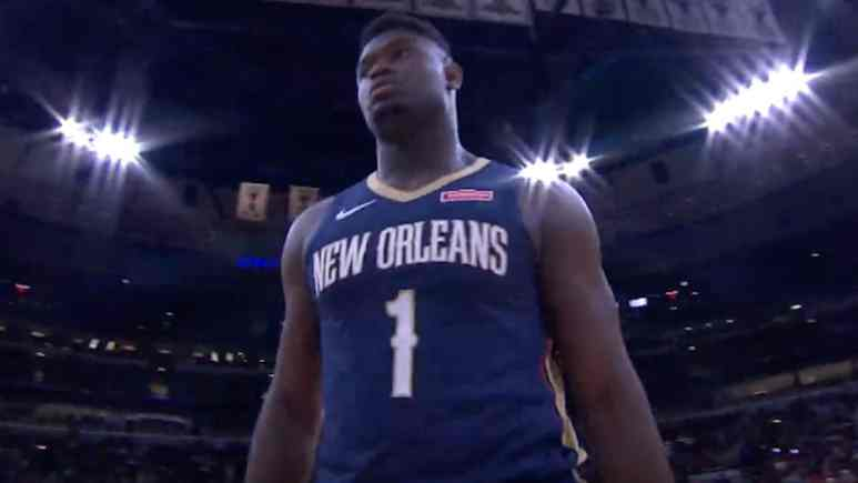 new orleans pelicans rookie zion williamson in nba preseason