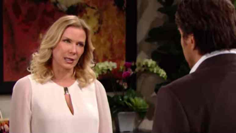 Katherine Kelly Lang and Thorsten Kaye as Brooke and Ridge on The Bold and the Beautiful.