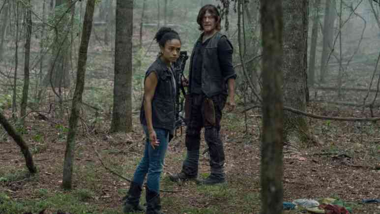 Lauren Ridloff as Connie and Norman Reedus as Daryl Dixon