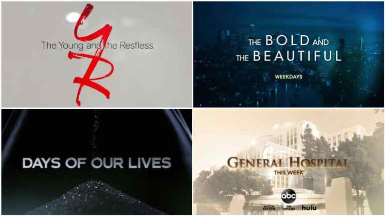 All four soap opening credits.