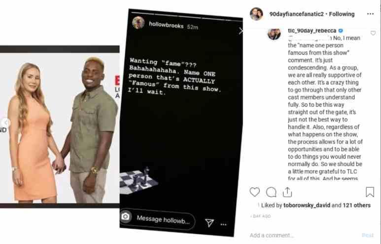 Rebecca Parrott comments on Blake's recent Instagram complaining