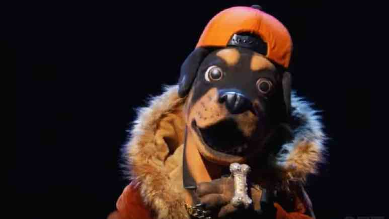 Rottweiler performs on The Masked Singer