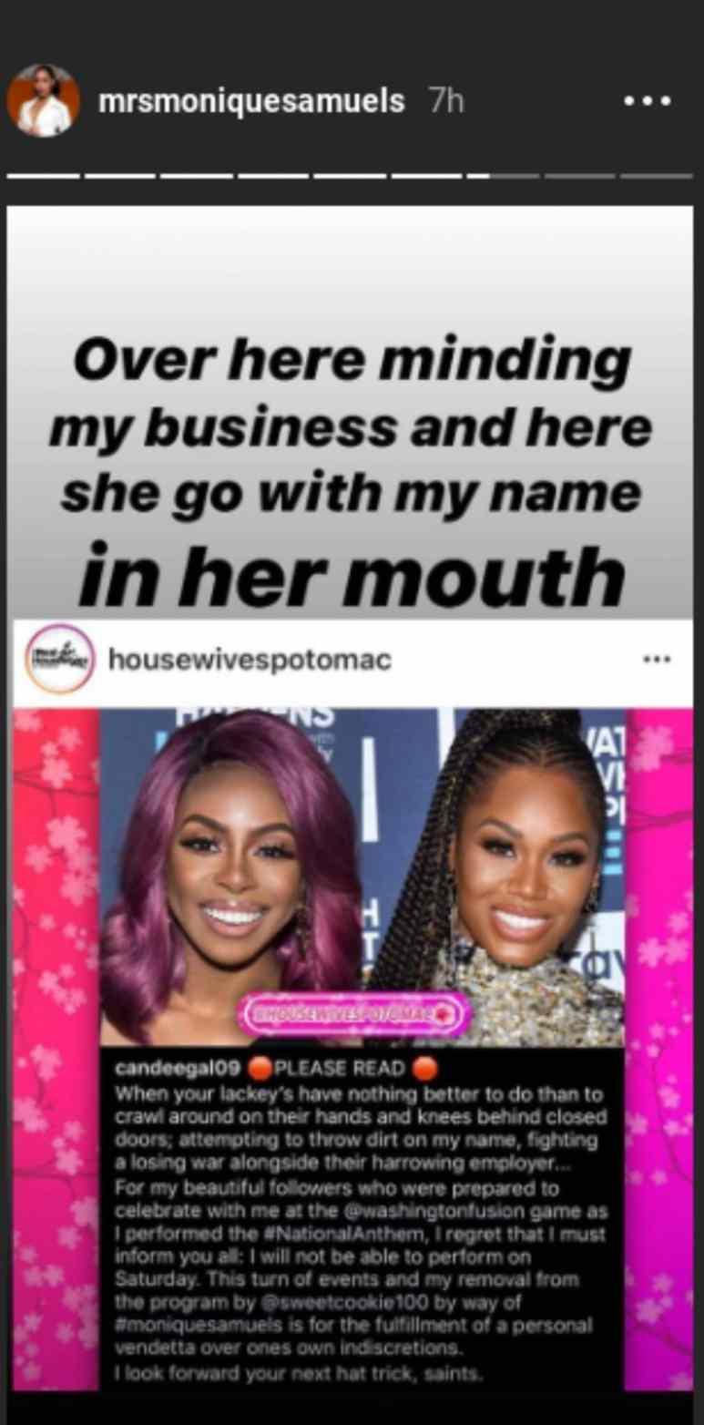 Monique responds to Candiace