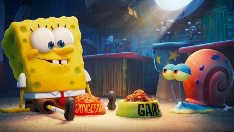 SponeBob SquarePants and Gary the Snail