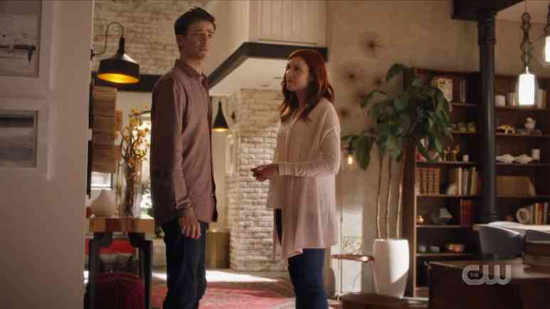 Barry Allen receives guidance from his Speed Force Mom. Pic credit: The CW.
