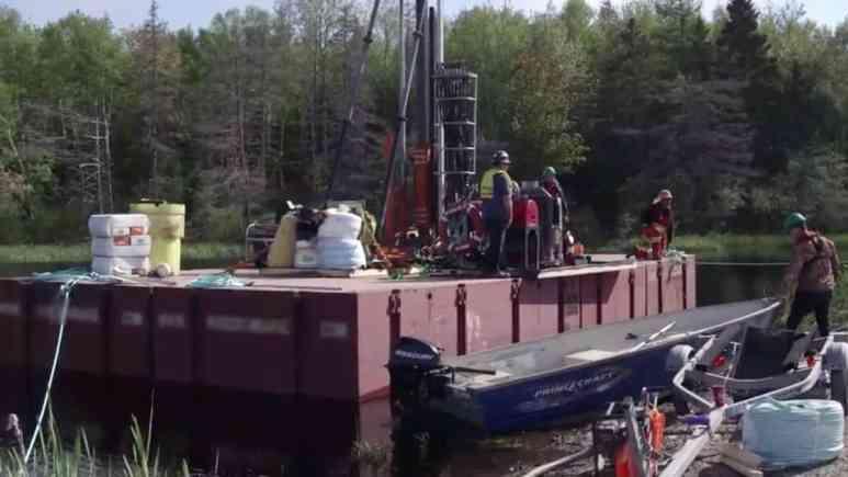 The drilling platform on a floating rig