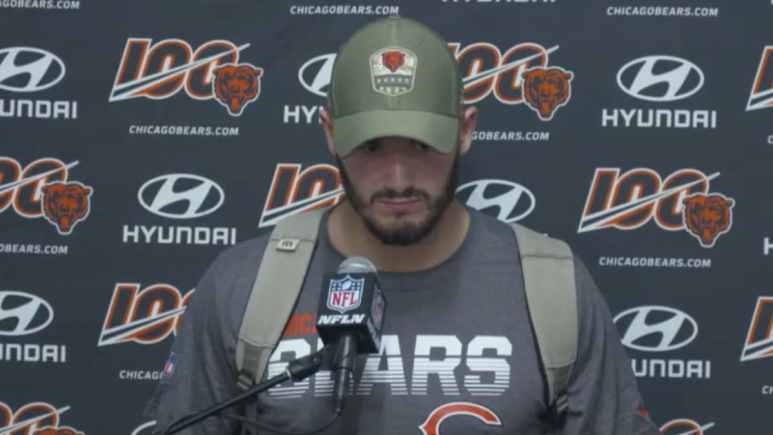 bears quarterback mitch trubisky speaks to media after loss to rams