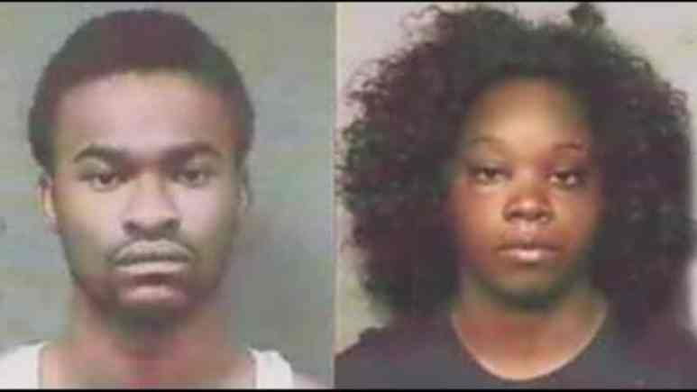 Mugshots of Danielle Hudson and Chaz Blackshear