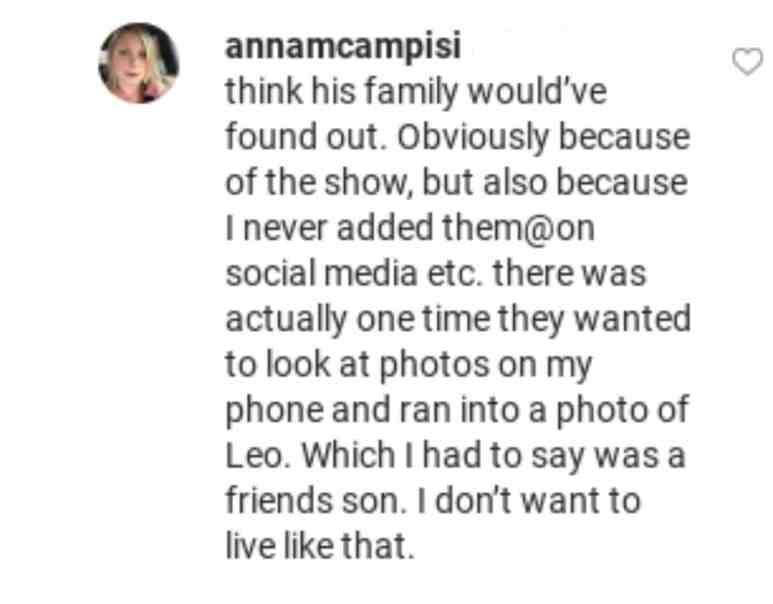 Anna admits to a big secret