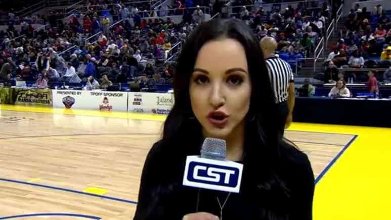 Sports reporter Carley McCord
