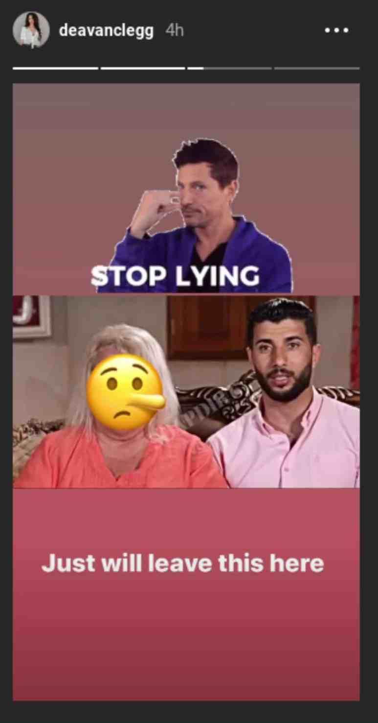 Stop lying post from Deavan Clegg's Instagram stories