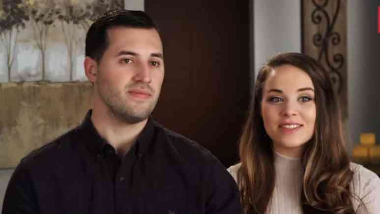 Jeremy Vuolo and Jinger Duggar during a Counting On confessional.