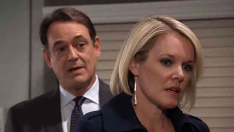 Jon Lindstrom and Maura West as Ryan and Ava on General Hospital.