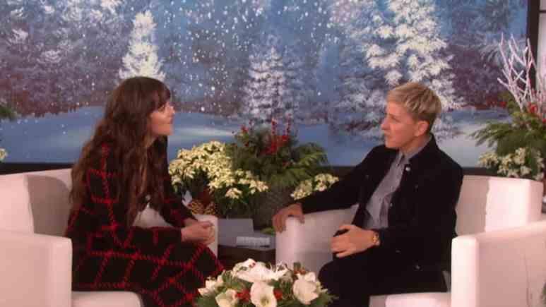 Ellen interviewing Dakota Johnson