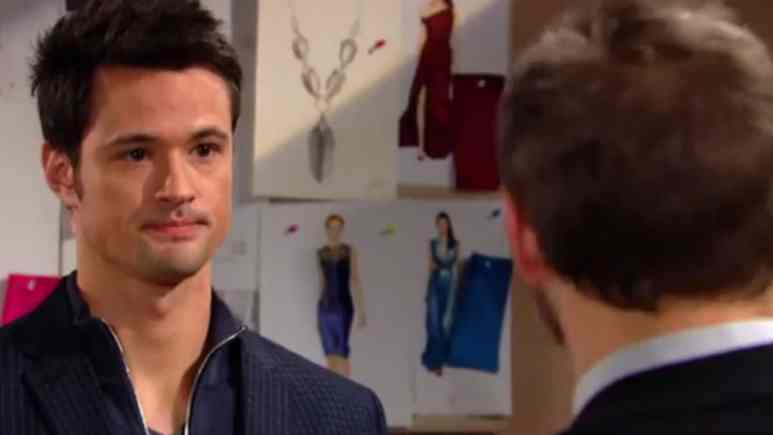 Matthew Atkinson and Scott Clifton as Thomas and Liam on The Bold and the Beautiful.