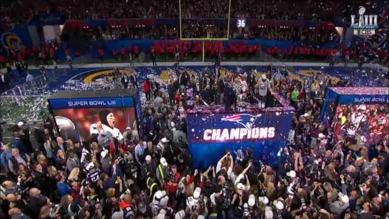 Super Bowl Trophy presentation