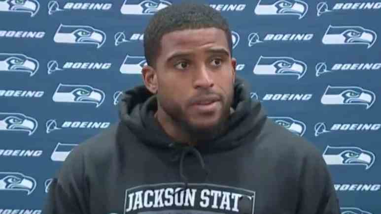 seattle seahawks linebacker bobby wagner talks to media postgame