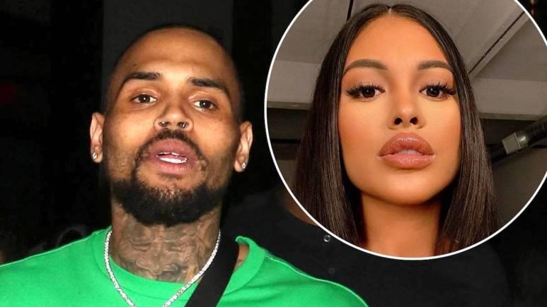 Selfies of Chris Brown and Ammika Harris