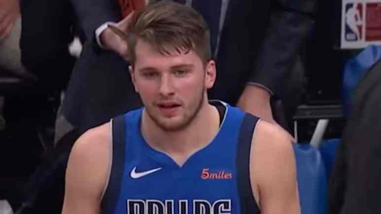 luka doncic made his return from injury against the spurs