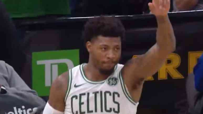 marcus smart returns from eye infection against toronto