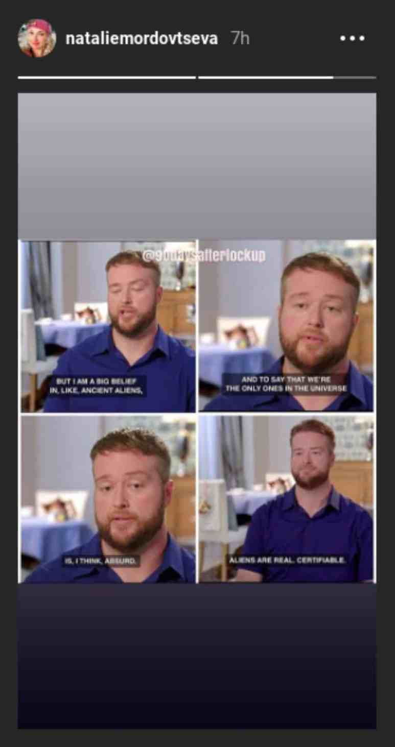 Mike from 90 Day Fiance on aliens