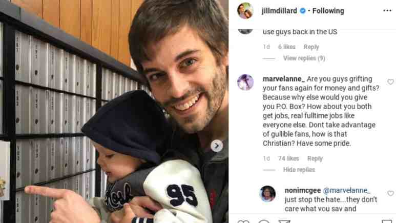 Jill and Derick called grifters on Instagram.