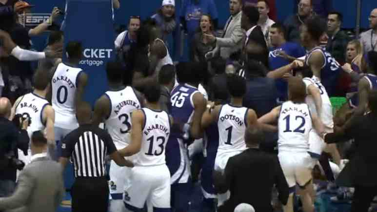 Kansas vs Kansas State fight