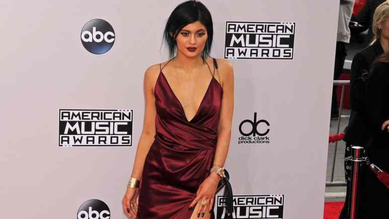 Kylie Jenner promotes new makeup collection in Instagram video.