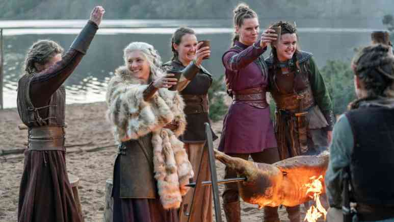Katheryn Winnick as Lagertha and Ragga Ragnars as Gunnhild
