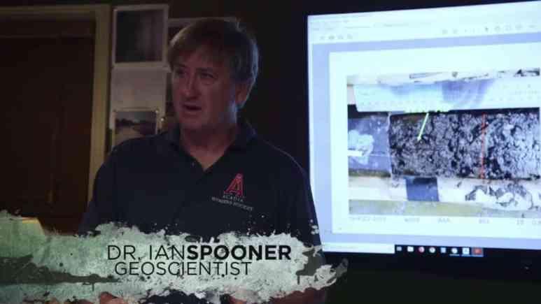 Dr Ian Spooner presenting evidence