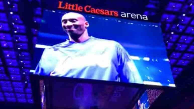 detroit pistons kobe tribute ahead of game against cavaliers