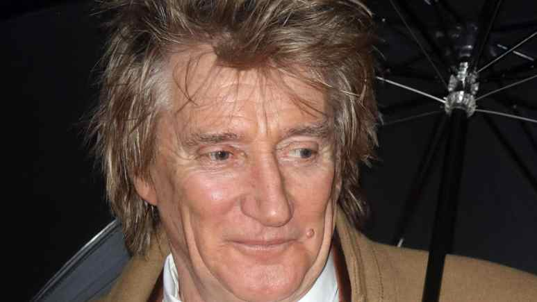 Close up of Rod Stewart