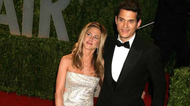 Jennifer Aniston reunites with ex John Mayer.