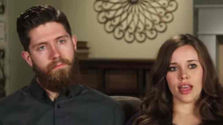 Ben Seewald and Jessa Duggar during a Counting On confessional.
