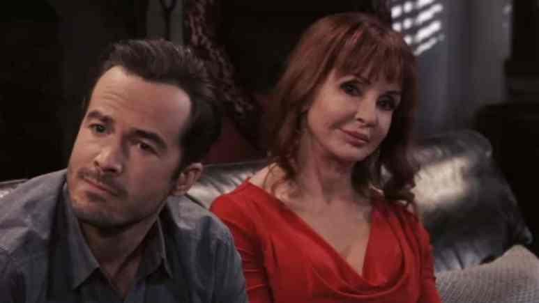 Ryan Carnes and Jacklyn Zeman as Lucas and Bobbie on General Hospital.